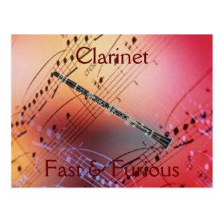 Clarinet:  Pegatina para el parachoques rápida y Tarjetas Postales