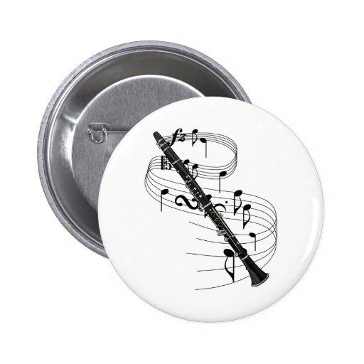 Clarinet Pin Redondo 5 Cm