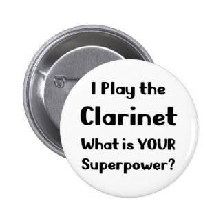 Clarinet Pinback Button