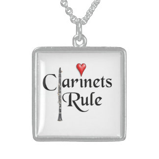 Clarinet Player Musician necklace jewelry ANY COLO