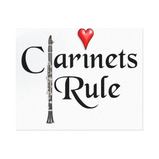 Clarinet player musician Photograph ANY TEXT Canvas Print