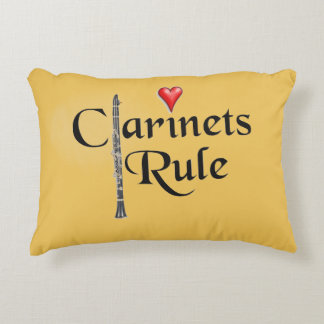 Clarinet player musician Pillow ANY COLOR Accent Pillow