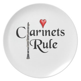 Clarinet player musician Plate ANY COLOR