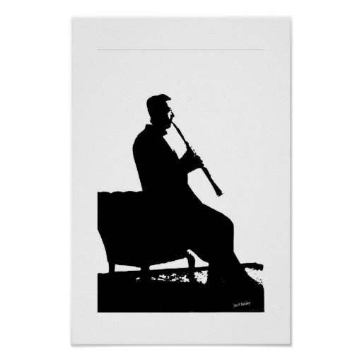 Clarinet Player Poster