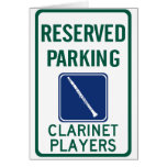 Clarinet Players Parking Card