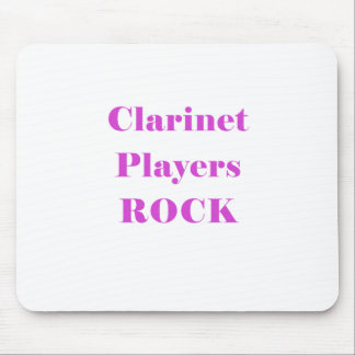 Clarinet Players Rock Mouse Pad