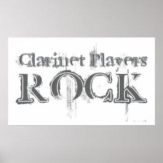 Clarinet Players Rock Print