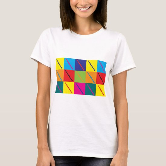 Clarinet Pop Art T-Shirt