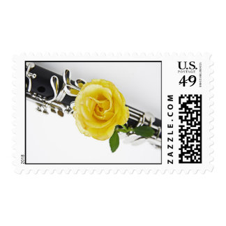 Clarinet Postage Stamp for Mailing Letters