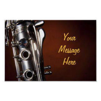 Clarinet Poster with Personalized Message