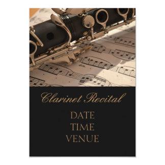 Clarinet Recital elegant stylish performance 5x7 Paper Invitation Card