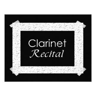 Clarinet Recital Invitation