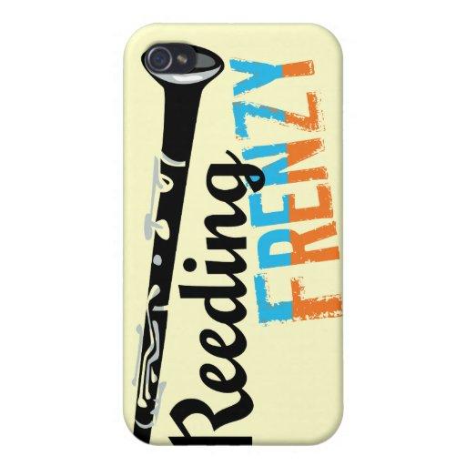Clarinet Reeding Frenzy iPhone 4 Covers
