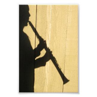 Clarinet Shadow photo print