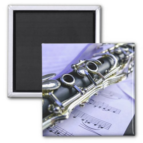 Clarinet Sheet Music Band Orchestra Magnet