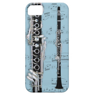 Clarinet & sheet music phone case. Pick color iPhone SE/5/5s Case