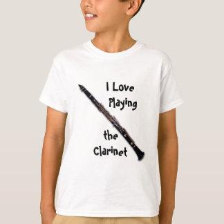 Clarinet Shirt - I Love Playing the Clarinet