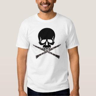 Clarinet Skull T Shirt