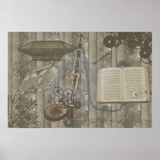 Clarinet Steampunk Escapade print