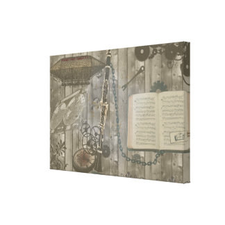 Clarinet Steampunk Fantasy Gallery Wrapped Canvas