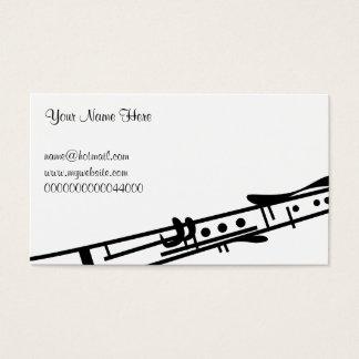 Clarinet, su nombre aquí, tarjetas de visita