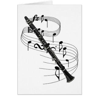 Clarinet Tarjeta De Felicitación