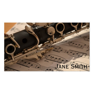 Clarinet Teacher freelance Music tutor Double-Sided Standard Business Cards (Pack Of 100)