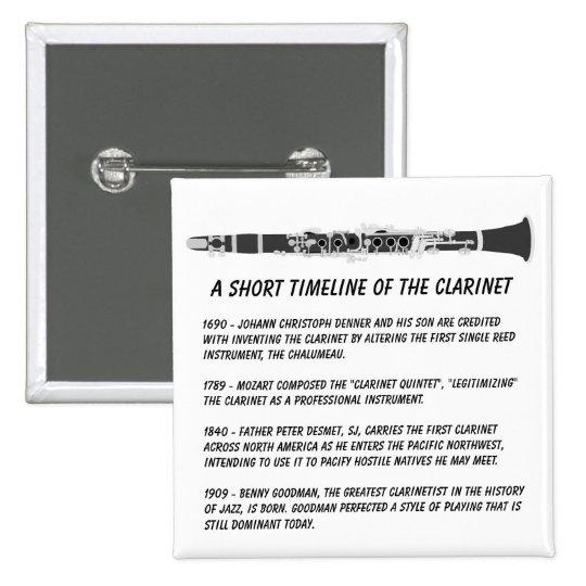 Clarinet Timeline Pinback Button