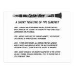 Clarinet Timeline Postcard