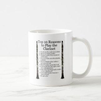 Clarinet Top 10 Classic White Coffee Mug