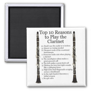Clarinet Top 10 Magnet