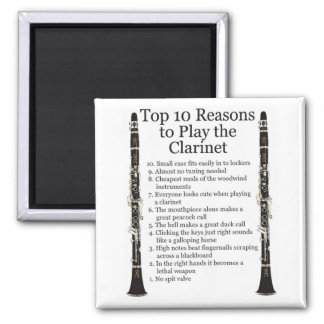 Clarinet Top 10 2 Inch Square Magnet
