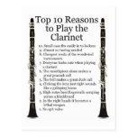 Clarinet Top 10 Postcard