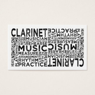 Clarinet Typography Business Card