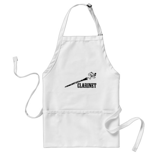 Clarinet Vector Swirl Design Adult Apron