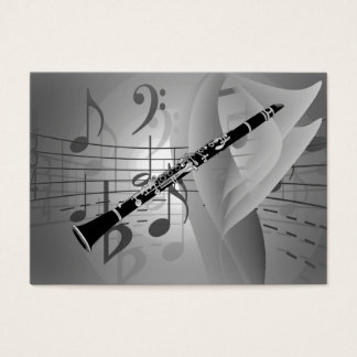 Clarinet with Musical Accents Business Card