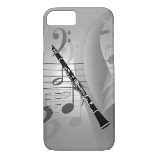 Clarinet with Musical Accents iPhone 8/7 Case