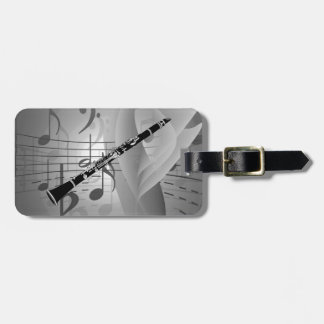 Clarinet with Musical Accents Luggage Tag