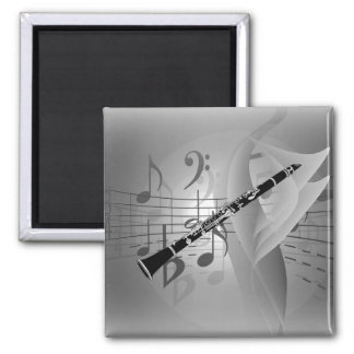 Clarinet with Musical Accents Magnet