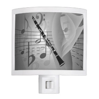Clarinet with Musical Accents Night Light