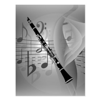 Clarinet with Musical Accents Postcard