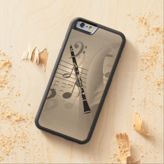 Clarinet with Musical Accents Carved® Maple iPhone 6 Bumper Case