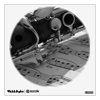 Clarinet with Sheet Music Wall Decal