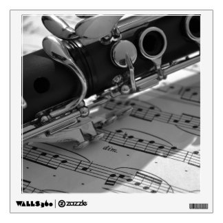 Clarinet with Sheet Music Wall Sticker