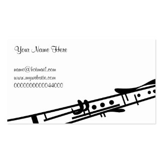 Clarinet, Your Name Here, Double-Sided Standard Business Cards (Pack Of 100)