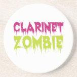 Clarinet Zombie Beverage Coaster