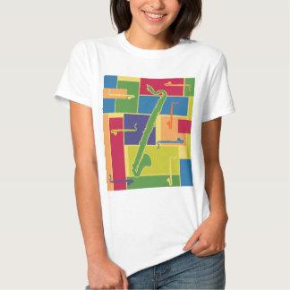 Clarinete bajo Colorblocks Camisas