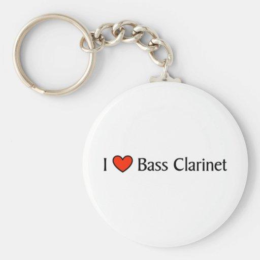 Clarinete bajo del corazón I Llavero Personalizado