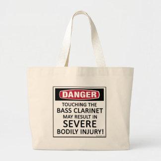 Clarinete bajo del peligro bolsa