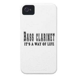 Clarinete bajo es manera de vida Case-Mate iPhone 4 cárcasas